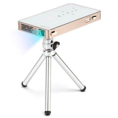 $ 162 với phiếu giảm giá cho máy chiếu WiFi thông minh di động P8S DLP xách tay - EU PLUG GOLDEN từ GearBest