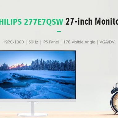 €213 with coupon for PHILIPS 277E7QSW 27-inch Frameless Monitor – WHITE  from GearBest