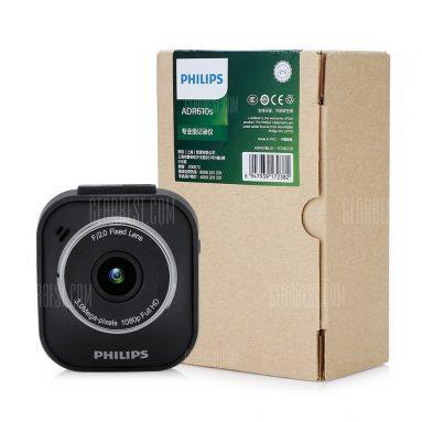 $ 49 con cupón para PHILIPS ADR610S 1080P Full HD Videograbador de conducción de automóviles - NEGRO de GearBest