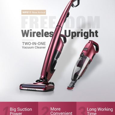 €152 with coupon for PUPPYOO WP511 2-in-1 Cordless Handheld and Stick Vacuum Cleaner with High-power Long-lasting and 7Kpa Suction Power from BANGGOOD