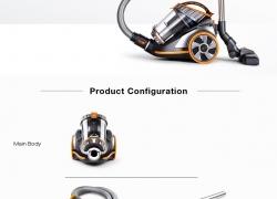 $ 99 dengan kupon untuk PUPPYOO WP9005B Cyclonic Bagless Canister Vacuum Cleaner Kapasitas Hisap Besar Aspirator Kuat Peralatan Pembersih Multifungsi - EU plug from BANGGOOD