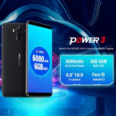 39% OFF Ulefone Power 3 Face ID 4G Smartphone 6+64G,limited offer $219.99 from TOMTOP Technology Co., Ltd