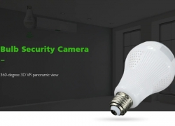 $13 with coupon for Panoramic View Wi-Fi IP Bulb Security Camera from Gearbest