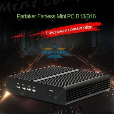 $ 448 con coupon per Partaker Fanless Mini Computer i7 8550U 7560U i5 8250U 7260U 2 DDR4 Msata M.2 SSD - 16GB Ram 512GB SSD WiFi i5 8250U 8350U DDR4 da GEARBEST