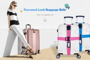 $12 with coupon for Password Lock Luggage Belts Suitcase Packing Strap from GearBest