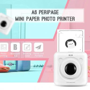 $ 36 BANGGOOD gelen PeriPage A6 El Mini Bluetooth Fotoğraf Yazıcısı için kupon ile