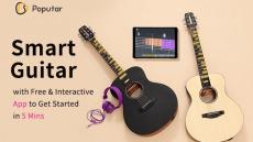 € 150 Poputar T1 36 İnç Akıllı Gitar için kuponlu Ücretsiz Uygulama Kontrollü LED Işık Bluetooth 5.0BLE AB CZ deposundan Herkes için Bağlan BANGGOOD