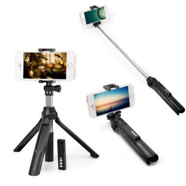 $ 6 휴대용 블루투스 4.0 카메라 Selfie Monopod for iPhone X - GearBest의 BLACK