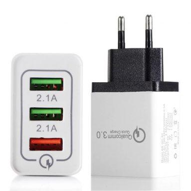 TOMTOP से पोर्टेबल ट्रैवल होम यूनिवर्सल 2-पोर्ट USB वॉल चार्जर के लिए कूपन के साथ $ 3