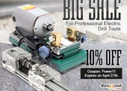 10% OFF for Professional Power Drill Grinder Tools from BANGGOOD TECHNOLOGY CO., LIMITED