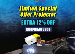 Up to 12% OFF Promotion for Projectors from BANGGOOD TECHNOLOGY CO., LIMITED