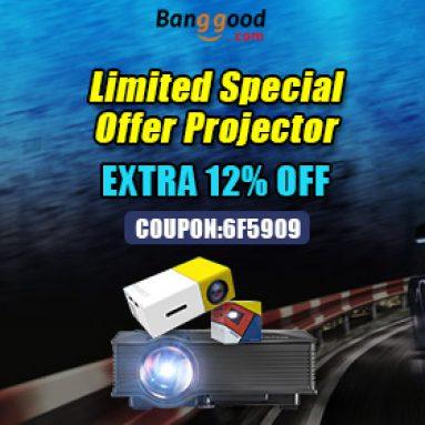 עד 12% הנחה לקידום מקרנים מ BANGGOOD TECHNOLOGY CO., LIMITED