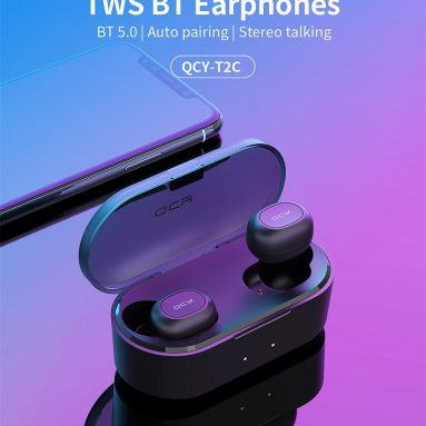 $ 16 con cupón para QCY T2C (T1S) Mini TWS Wireless Earphones Bluetooth 5.0 de GEARBEST