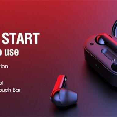 € 23 với phiếu giảm giá cho QCY T3 TWS Không dây Bluetooth 5.0 Tai nghe âm thanh nổi song phương từ GEARVITA