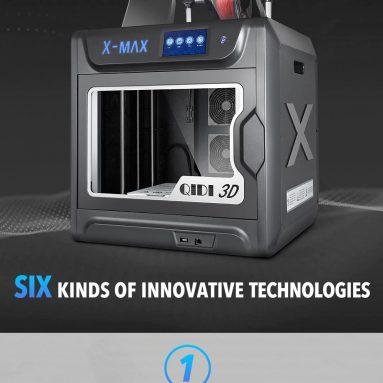 € 1226 avec coupon pour QIDI TECH Grand Imprimante Industrielle Intelligente X-max 3D en Écran Tactile Pouce 5 imprimer 300x250x300mm - UE Allemagne Entrepôt de GEARBEST