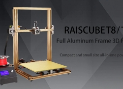 €296 with coupon for RAISCUBE T8 / T9 Quick Assembly Aluminum-alloy 3D Printer – GOLD T8 / EU PLUG from Gearbest