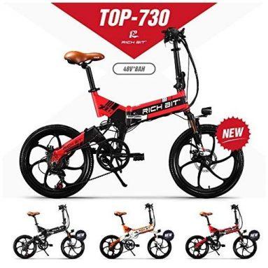 € 819 με κουπόνι για RICH BIT TOP-730 48V 250W 8Ah 20inch Ηλεκτρικό ποδήλατο με πτυσσόμενο μοτοποδήλατο 32km / h Κορυφαία ταχύτητα 45-50km Διανυθέντα χιλιόμετρα Ποδηλασία βουνού ποδηλάτου - κόκκινο EU UK WAREHOUSE από BANGGOOD