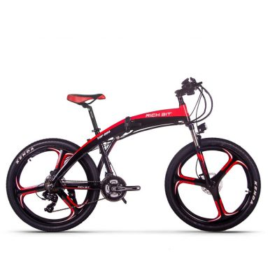 € 1069 쿠폰 포함 리치 비트 TOP-880 250W 36V 9.6Ah 26inch 접이식 오토바이 전기 자전거 유압 디스크 브레이크 35km / h 최고 속도 38-42 주행 거리 범위 산악 자전거 – BANGGOOD의 회색 영국 영국 창고