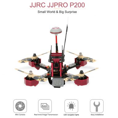 35%OFF JJRC JJPRO  -  P200 5.8G FPV Racing Drone RTF / TOMTOP Technology Co.、Ltdからの無料配送