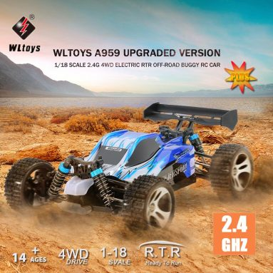 55% OFF Wltoys A959 Upgraded Version 1/18 Scale 2.4G RC Car,limited offer $45.99 from TOMTOP Technology Co., Ltd