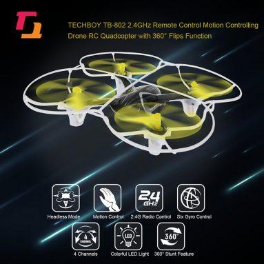 61% OFF TECHBOY TB-802 2.4GHz RC Một phím điều khiển chuyển động Drone, lmited cung cấp $ 15.99 từ TOMTOP Technology Co., Ltd