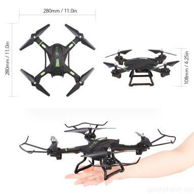 Đen S5W 2.0MP Máy ảnh Wifi FPV Quadcopter RTF Thiết kế, tính năng, đánh giá (phiếu giảm giá bên trong)