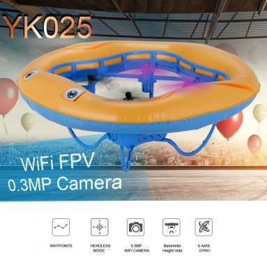Only $34.5 For YK025 airbag RC quadcopter WiFi FPV 0.3MP Camera from RCMOMENT
