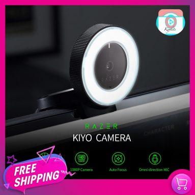 TOMTOP의 링 라이트 115P HD 웹 카메라가있는 Razer Kiyo 라이브 웹캠 쿠폰 € 1080
