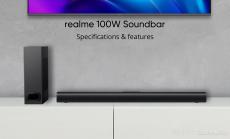 132 يورو مع كوبون لـ Realme 100W bluetooth Soundbar Home Theater 2.1 قناة 60W مكبر صوت كامل المدى 40W Bass Subwoofer Audio Soundbar من BANGGOOD
