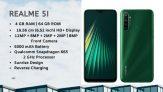 128 אירו עם קופון עבור Realme 5i גרסה גלובלית 6.5 אינץ 'HD + 5000mAh אנדרואיד 9.0 מצלמות אחוריות 12 מגה פיקסל AI 3-Card Shot 4GB RAM 64GB ROM Snapdragon 665 AIE Octa Core 4G סמארטפון - אקווה בלו מבנגנג
