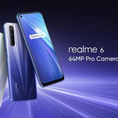 €212 with coupon for Realme 6 Global Version 6.5 inch FHD+ 90Hz Refresh Rate NFC Android 10 4300mA 64MP AI Quad Camera 8GB 128GB Helio G90T 4G Smartphone – White from BANGGOOD