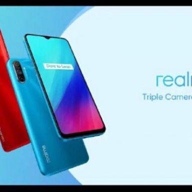 € 103 com cupom para Realme C3 Global Versão 6.5 polegadas 5000mAh Android 10 12MP AI Triple Camera 3-Card Slot 3GB 64GB Helio G70 Smartphone 4G - Azul da BANGGOOD
