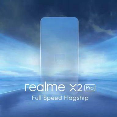 402 com cupom para o Realme X2 Pro CN versão 6.5 polegadas FHD + 90Hz display AMOLED fluido HDR10 + NFC 4000mah 50W câmeras Super Quad VOOC 64MP 6GB 64GB Snapdragon 855 Plus Smartphone 4G - Neptune Blue da BANGGOOD