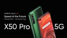 557 אירו עם קופון עבור Realme X50 Pro 5G גרסת האיחוד האירופי גרסת 6.44 אינץ 'FHD + 90Hz קצב רענון NFC אנדרואיד 10 65W מטען SuperDart 64MP AI מצלמה אחורית מרובעת 8GB 128GB Snapdragon 865 Smartphone - ירוק מבנגנג