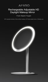 $35 with coupon for Rechargeable LED HD Makeup Daylight Mirror from Xiaomi Youpin from GearBest