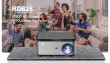 179 € z kuponem na Rigal RD828 Projektor 1080P Full HD WIFI Telefon bezprzewodowy Ten sam ekran 6500 lumenów ± 50 pionowa korekcja trapezu 50000 godzin Beamer 3D Kino domowe Kino wideo firmy BANGGOOD