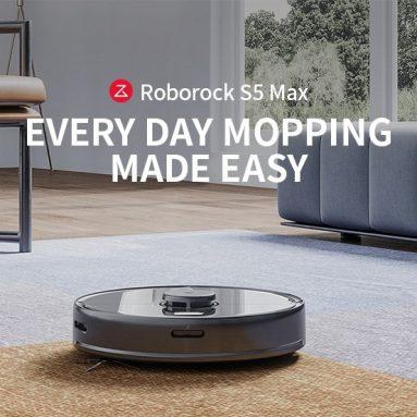 € 395 με κουπόνι για Roborock S5 Max Laser Πλοήγηση Robot Wet and Dry Ηλεκτρική σκούπα από Xiaomi youpin - Μαύρη EU Plug από GEARBEST