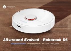 $ 589 med kupon til Roborock S6 LDS Scanning SLAM Algoritme Robot Støvsuger - Hvid EU Plug fra GEARBEST