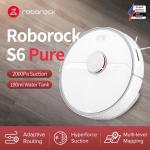322 يورو مع كوبون لـ Roborock S6 Pure Robot Vacuum Cleaner 2000Pa Suction Smart LDS SLAM Navigation يعمل مع Google Pet Hairs Carpet Dust Robotic Collector - أبيض من مستودع EU CZ BANGGOOD