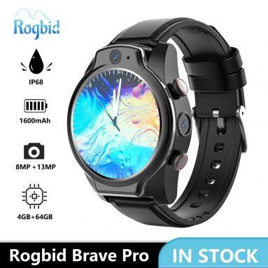 169 доларів США з купоном на Rogbid Brave Pro 1.69-дюймовий IPS-екран 4G Smart Watch (SIM-карта, 4 ГБ оперативної пам'яті + 64 ГБ ПЗУ від TOMTOP