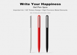 $9 with coupon for Rotary Gel Pen 3pcs from Xiaomi youpin from GearBest