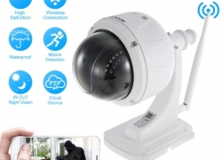 Скидка 10$ на KKmoon 1080P Wireless WIFI Dome PTZ HD IP Camera! from Tomtop INT