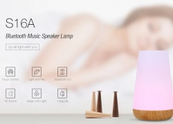 $14 with coupon for S16A Bluetooth 3.0 Music Speaker Lamp from Gearbest