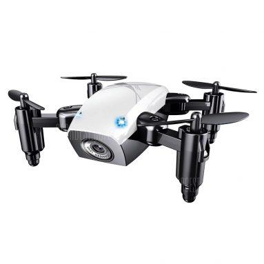 $ 18 con cupón para S9 Micro Drone RC plegable - RTF - WIFI FPV 0.3MP CAMERA + ALTITUD HOLD WHITE de GearBest