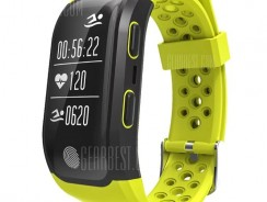 $31 with coupon for S908 GPS Sports Smartband  –  YELLOW from GearBest