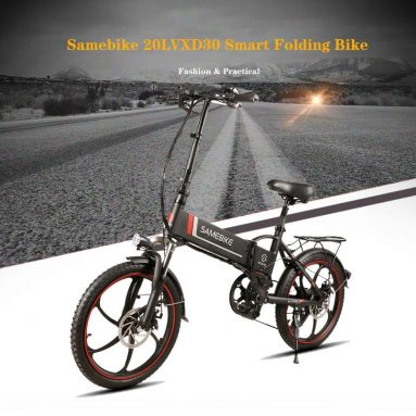 € 677 na may kupon para sa SAMEBIKE 20LVXD30 10.4AH 48V 350W Electric Moped Bike EU UK WAREHOUSE mula sa BANGGOOD