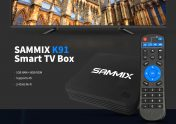 $19 with coupon for SAMMIX K91 Smart TV Box – Black 1GB RAM + 8GB ROM EU Plug from GEARBEST
