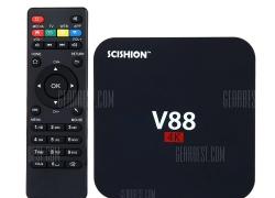 $22 with coupon for SCISHION V88 TV Box Player Rockchip 3229 Quad Core  –  EU PLUG  BLACK  EU warehouse from Gearbest