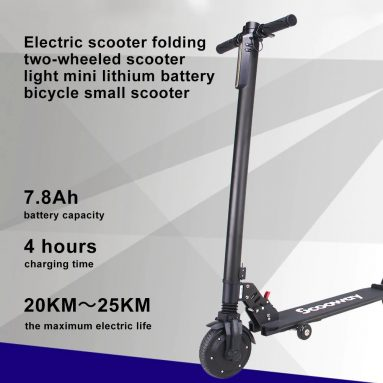 €276 with coupon for SCOOWAY Electric Folding Scooter Black With 6.5inch 350W 2 Wheel Kick Scooter 15 MPH Max Speed – Black Germany Warehouse from GEARBEST