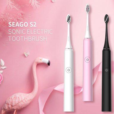 € 17 với phiếu giảm giá cho Bàn chải đánh răng điện tự động SEAGO S2 - Đen từ GEARBEST